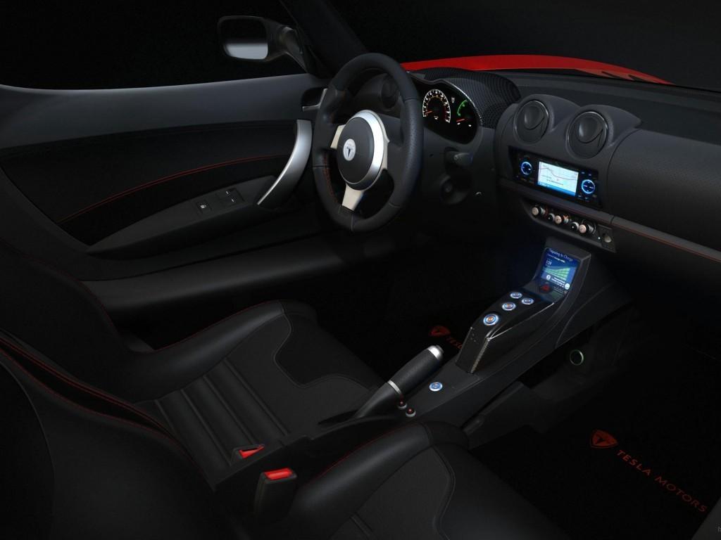 Интерьер Tesla Roadster