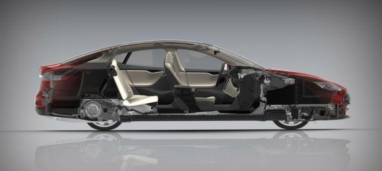 автомобиль tesla конструкция