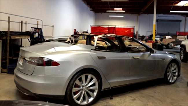 Фото кабриолета Tesla model s