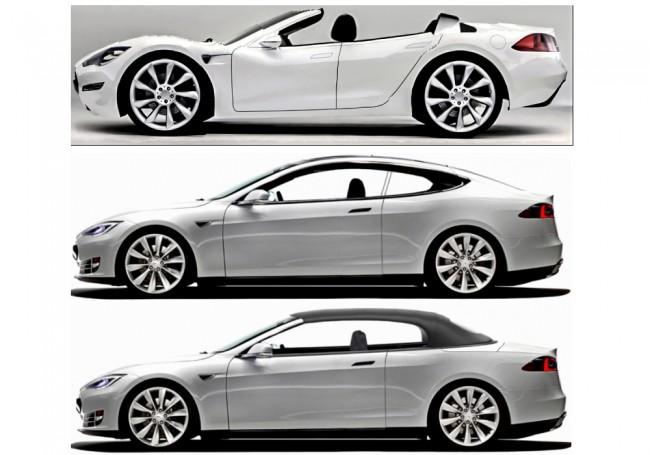 Кабриолет Tesla Model S