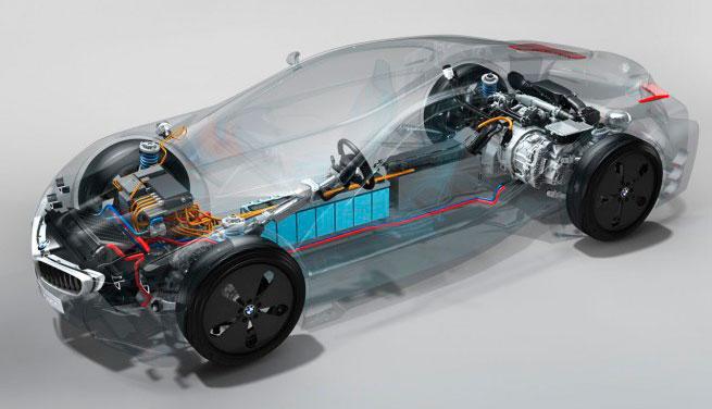 Внутренности BMW i8