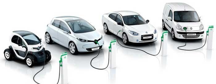 Электромобили на зарядке
