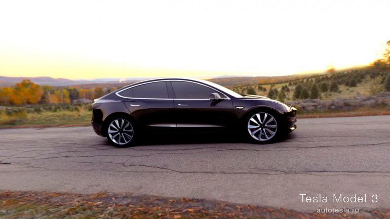 Черная Tesla Model S
