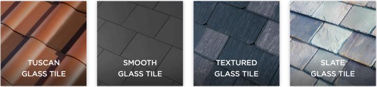 Варианты черепицы Solar Roof